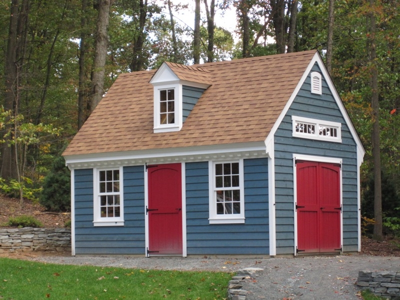 2 Story Amish Garages : Story a frame sheds amish mike