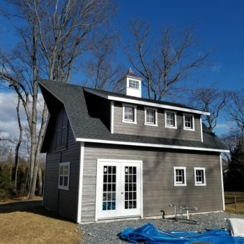 18x24 12 Pitch 2 Story A-Frame 1 Extra Set of Doors 2 16' House Dormers Lapp Sididing Raised Walls Hay Hood Upgrade Doors with 15 Lite Windows 4 24x36 Windows with Trim