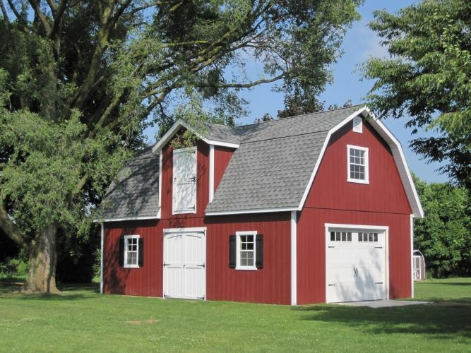 2 Story Amish Garages : Story dutch sheds amish mike barns