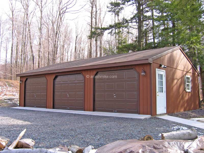 3 Car Garages Amish Mike Sheds Barns