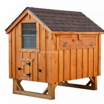 4' x 6' A-Frame BB Cedar Chicken Coop