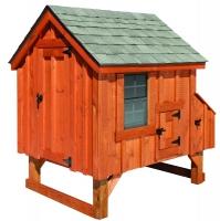 4' x 4' A-Frame BB Rustic Cedar Chicken Coop