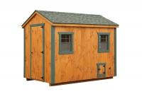 6' x 10' A-Frame TG Cedar Chicken Coop