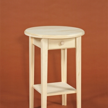 DR-277 Round Table with Drawer 20x27x1/2h