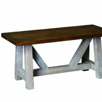 "CCC- 442 Olde Farmstead Cocktail Table 18""D x 42""Lx 19""H; No bands"