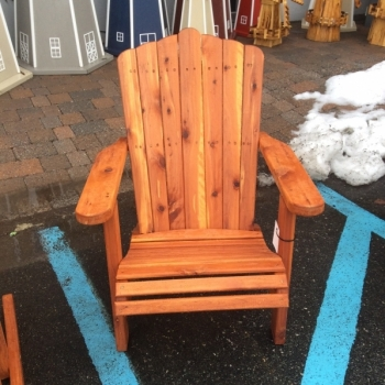 "MM-2 20"" Wide Cedar Adirondack Lounge Chair $290"