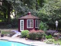 12' x 14' Oval Wood Cabana