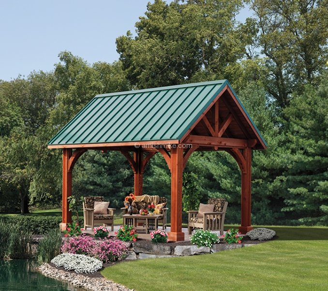 Custom Alpine Series Pavilions Amish Mike
