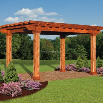 8' x 8' Wood Post Artisan Pergola