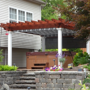 12x14 Wood Artisan Pergola Country structures