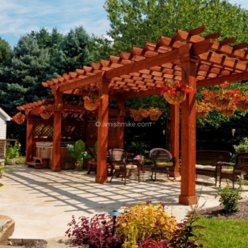 Custom Wood Artisan Pergola