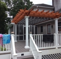 10x16 Artisan Cedar Pergola with canopy