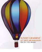 Sunset Gradient 22 Inch Hot Air Balloon