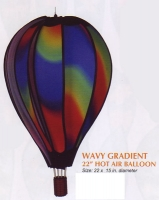 Wavy Gradient 22 Inch Hot Air Balloon