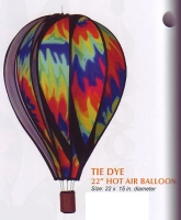 Tie Dye 22 Inch Hot Air Balloon