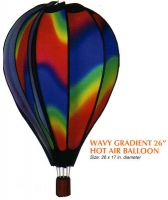 Wavy Gradient 26 Inch Hot Air Balloon