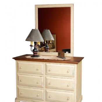 HB-80 6 Drawer Dresser 53wx34hx21d