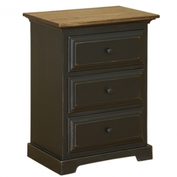 IE-44 Three Drawer Nightstand 22 1/2wx14 1/2dx29h