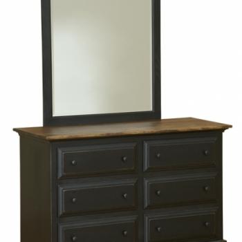 IE-48 Six Drawer Dresser 52 1/2wx20 1/2dx34h
