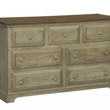 IE-55 Seven Drawer Dresser 56wx20 1/2dx34h