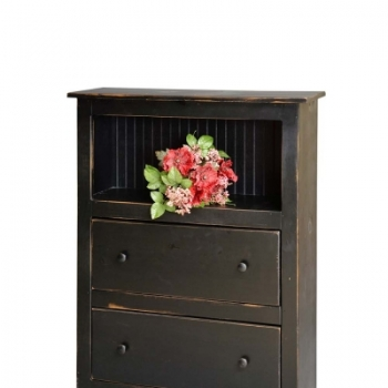 HB-22-2 4' Bookcase with 2 Drawers 36wx48hx14d