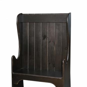 HB-103 Low Back Settle Bench 38wx57hx17d