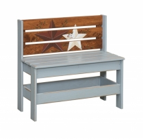 K-1300 Garden Bench-Flag 32.5wx15.5dx31h
