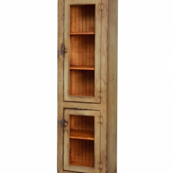 VIN-23-L Small Curio Cabinet 22wx72x14d
