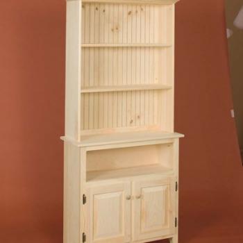 DR-356 2 Door Bookshelf 33wx12dx17h