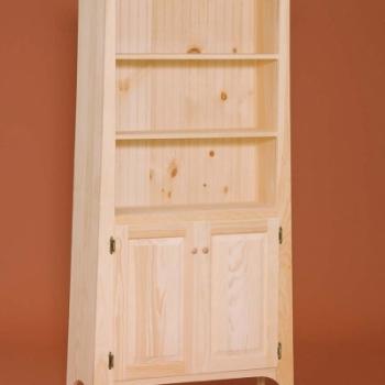 DR-450 2 Door Slant Top Bookshelf 35 1/2wx13 1/4dx69 1/4h