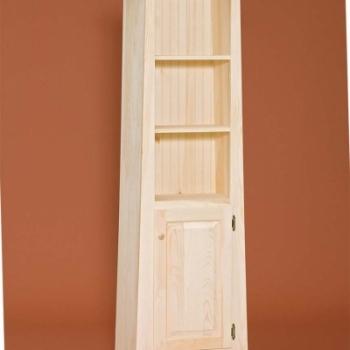 DR-451 1 Door Slant Top Bookshelf 21 1/2wx13 1/2dx69 1/4h