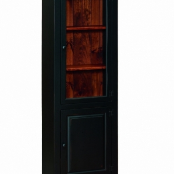 J-152 Bookcase with Glass 27 1/2wx14dx72h