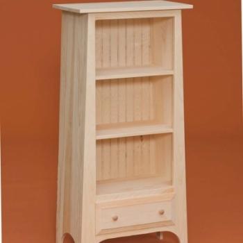 DR-658 Slant Bookshelf with Drawer 24wx13 1/2dx50h