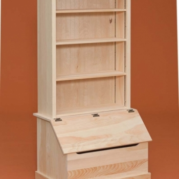 DR-706 Bookshelf with Chest 34 1/2wx21 3/4dx23 1/2h