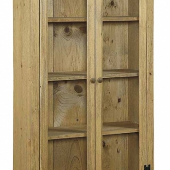 J-22 Medium Bookcase with Glass 35 1/2wx14dx57 1/2h