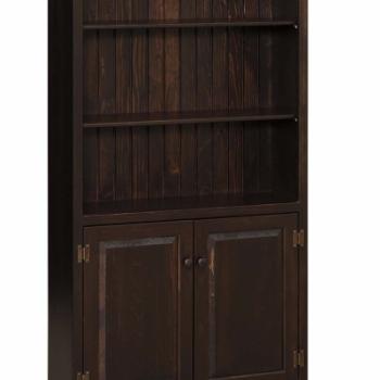 K-1461 6' Bookcase with Doors 83wx13dx74h
