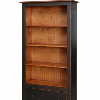 HB-20-1 6' Bookcase with Drawers 36wx72hx14d