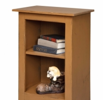 19-B 3' Narrow Bookcase 22wx32hx14d