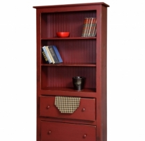 HB-20-2 6' Bookcase with 2 Drawers 36wx72hx14d