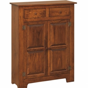 IE-112w Double Pine Safe with Wood 37 1/2wx13dx48h