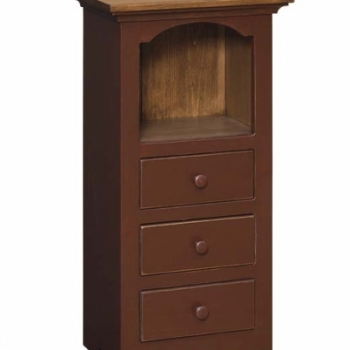 IE-870 3 Drawer Open Cabinet 19wx12 1/4dx371/2h