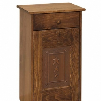 IE-82T Trash Bin Cabinet with Tin 19 1/2wx12 1/2dx32h