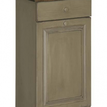 IE-82W Trash Bin Cabinet with Wood 19 1/2wx12 1/2dx32h