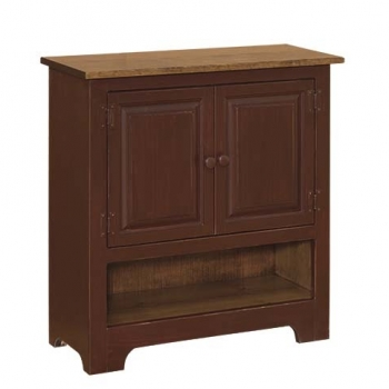 IE-122WO Double Hall Cabinet with Wood 32wx12 1/2dx33h