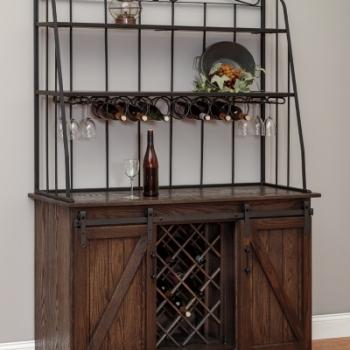 """LP- Barn Door Backers Wine Cabinet  50"""" w 20""""d 76""""H"""