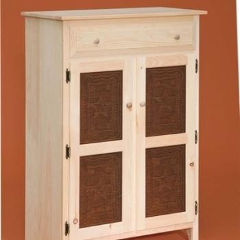 DR-537 Small 2 Door Pie Safe 32 3/4wx16 1/4dx46 1/4h