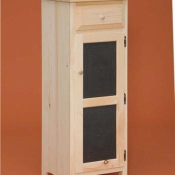 DR-539 Small 1 Door Pie Safe 18w16 1/4dx46 1/4h