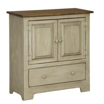 IE-122WD Double Hall Cabinet with wood and drawer 32wx12 1/2dx33h