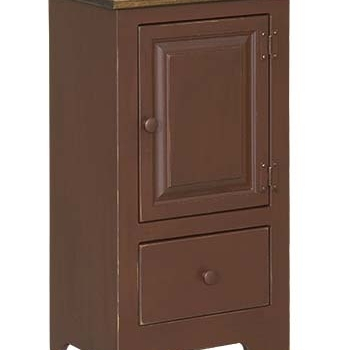 IE-125W Single Hall Cabinet with wood and drawer 9 1/2wx12 1/2dx33h