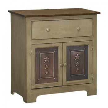 IE-130TD Two Door Plasma Cabinet with tin and drawer 32x16dx33h